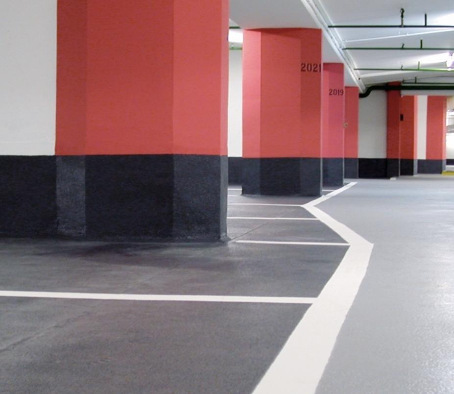Bodenbeschichtung eines Parkhauses